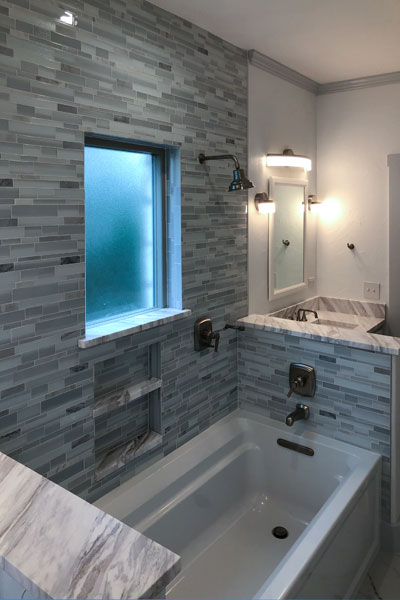 Bathroom remodel by New Life Remodeling